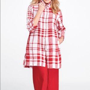 Flax Plaid Linen Button Down Shirt